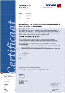 Certyfikat systemu malowania