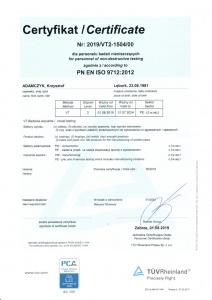 Krzysztof Adamczyk VT + PED